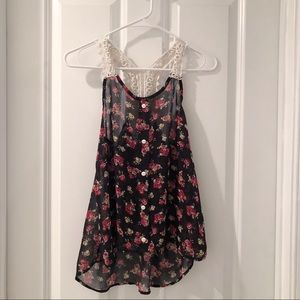 f21 floral tank w/ laced back